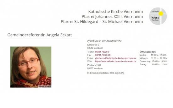 Gemeindereferentin Angela Eckart