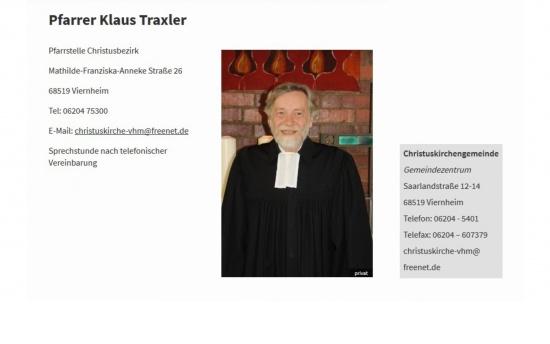 Pfarrer Klaus Traxler