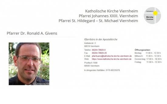 Pfarrer Dr. Ronald A. Givens