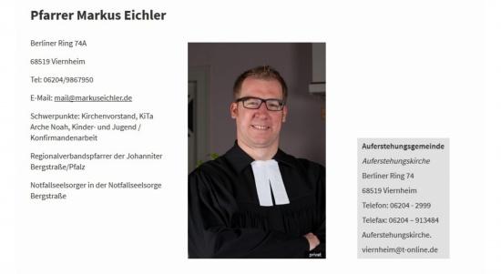 Pfarrer Markus Eichler