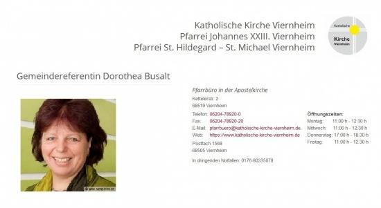 Gemeindereferentin Dorothea Busalt