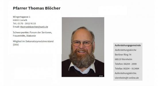 Pfarrer Thomas Blöcher